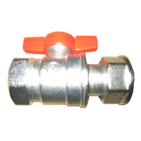 Ball valve 1 (35 mm) cap nut x 1 (35 mm) internal thread